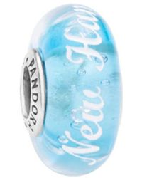 PANDORA Silver Annapolis Sailing Murano Glass Charm - Blue