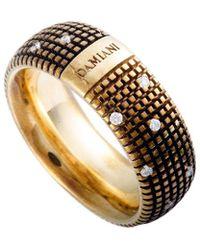 Damiani 18k Rose Gold & Rhodium 0.14 Ct. Tw. Diamond Ring - Metallic