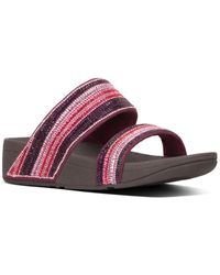 Fitflop Rosa Crystal Mosaic Slide - Red