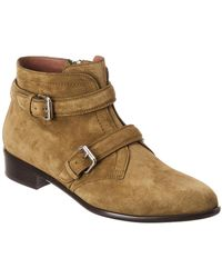 Tabitha Simmons Windle Suede Bootie - Green