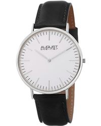 August Steiner Men's Leather Watch - Metallic