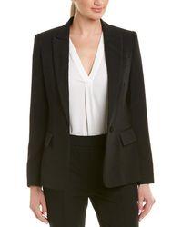Stella McCartney Solid Silk-lined Wool Blazer - Black