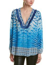 Hemant & Nandita Hemant & Nandita Beaded Silk Top - Blue