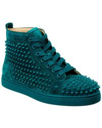 wholesale dealer a7ae2 4e7f6 Louis Spikes Suede Trainer - Blue