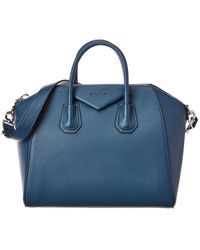 Givenchy Antigona Medium Leather Satchel - Blue