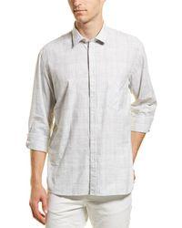 Billy Reid John Standard Fit Woven Shirt - Gray