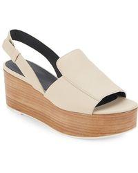 Tibi Alex Leather Slingback Sandals - Multicolor