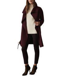Reiss Antonia Wool-blend Coat - Multicolour