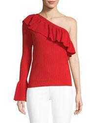 Rebecca Minkoff One-shoulder Ruffle Jumper - Red