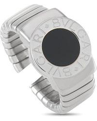 BVLGARI Bulgari 18k Onyx Round Ring - Metallic