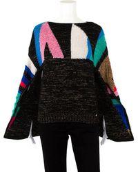 Chanel Colorblocked Cashmere & Silk-blend Sweater, Size Eur 34 - Multicolor
