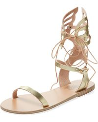 Ancient Greek Sandals Ikaria Mid Lace Gladiator Sandal - Multicolour