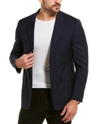 Theory Gansevoort Wool Sport Coat - Blue