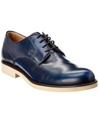 Tod's Leather Derby - Blue