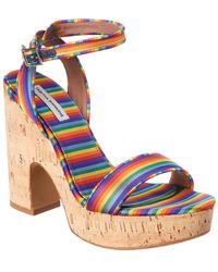 Tabitha Simmons Calla Silk Platform Sandal - Blue