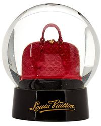 Louis Vuitton Red Glass Snow Globe