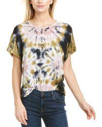 Young Fabulous & Broke Cleo Linen T-shirt - Blue