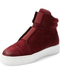 Atelje71 Emerald Hi-top - Red