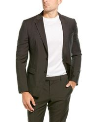 Z Zegna 2pc Wool Suit With Flat Pant - Brown