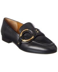 Chloé Demi Buckle Leather Loafer - Black
