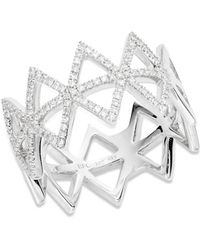 EF Collection - 14k White Gold Spiked Diamond Ring - Lyst