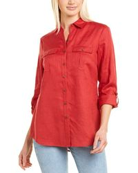 Go> By Go Silk Go>silk Linen Shirt - Red