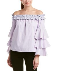 Romeo and Juliet Couture Off-the-shoulder Top - Purple