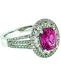 Arthur Marder Fine Jewelry 18k 3.07 Ct. Tw. Diamond & Pink Sapphire Ring - Green