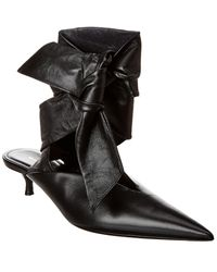 Balenciaga Dance Knife Ankle-tie Leather Pump - Black