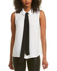 Cece By Cynthia Steffe Collared Blouse - White