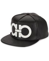 Ferragamo Gancini Logo Cap - Black