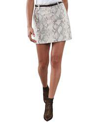 Reiss Kora Leather Skirt - Multicolor