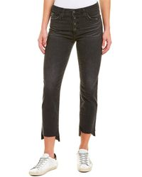 AG Jeans Isabella 10 Years Goodnight High-rise Straight Crop - Black