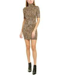 Enza Costa Turtleneck Mini Dress - Brown