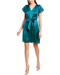 Rebecca Taylor Tie-front Shift Dress - Green