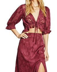 Sage the Label Midnight Society Top - Red
