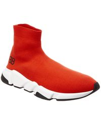 Balenciaga Speed Sneakers - Red