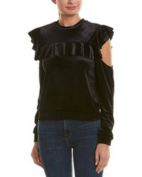 Romeo and Juliet Couture Cold-shoulder Top - Black