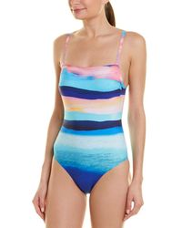 8aa5552a6 Figleaves Sunrise Underwired Bandeau Cut Out Swimsuit D-g Cup in ...