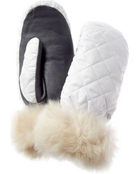 UGG Quilted All Weather Mittens - White