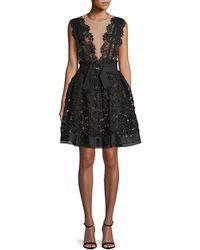 Lanvin Lace A-line Dress - Black