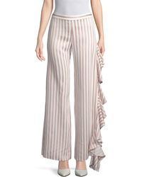 Alexis Stripe Ruffle Trouser - Multicolour