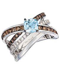Le Vian ? 14k 1.72 Ct. Tw. Diamond & Aquamarine Ring - Metallic