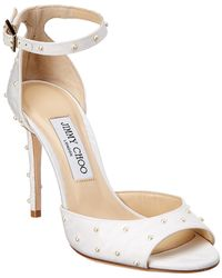 Jimmy Choo - Annie 100 Ankle-strap Leather Sandal - Lyst