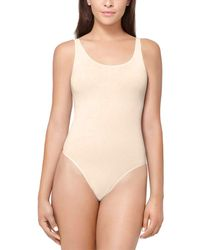 Yummie By Heather Thomson Nylon Thong Back Body Suit - Natural