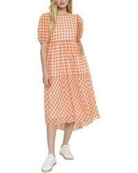 English Factory Midi Dress - Orange