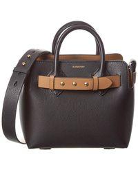 Burberry The Mini Leather Triple Stud Belt Bag - Black
