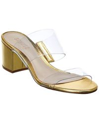 Schutz Victorie Leather Sandal - Metallic
