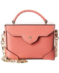 MANU Atelier Micro Bold Chain Leather Shoulder Bag - Pink