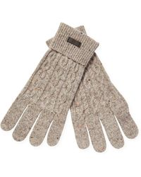 Fred Perry Flecked Cable Gloves - Natural
